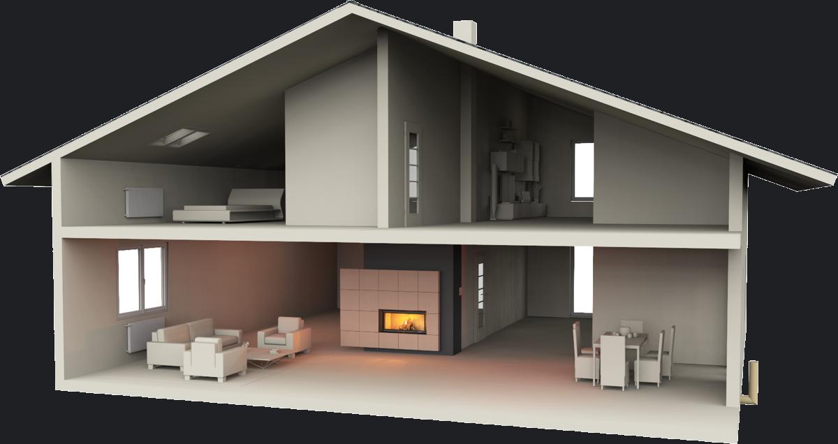 Kominek akumulacyjny dom