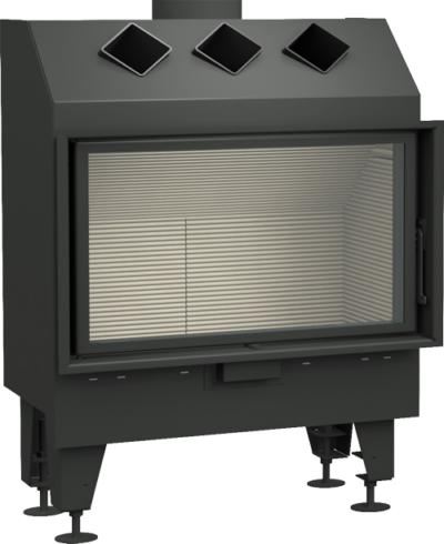 Isty 78x44 płaski light-wkład-kominkowy