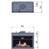 Kominek gazowy Faber Fyn 600 rysunek techniczny