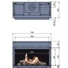 Kominek gazowy Faber Matrix 1050-500 I