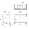 Kominek gazowy Faber Matrix 1050-500 III