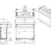 Kominek gazowy Faber Matrix 1050-650 II