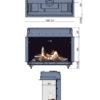 Kominek gazowy Faber Matrix 1050-650 III