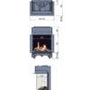 Kominek gazowy Faber Matrix 450-650 III