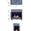 Kominek gazowy Faber Matrix 800-500 II