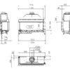 Kominek gazowy Kalfire G105_37C rysunek techniczny
