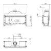 Kominek gazowy Kalfire G120_41F rysunek techniczny