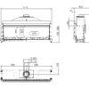 Kominek gazowy Kalfire G160_41F rysunek techniczny