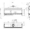 Kominek gazowy Kalfire G170_37S rysunek techniczny
