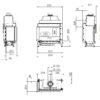 Kominek gazowy Kalfire G65_44C rysunek techniczny
