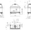 Kominek gazowy Kalfire G90_44S rysunek techniczny