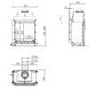 Kominek gazowy Kalfire GP60_59F rysunek techniczny