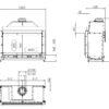 Kominek gazowy Kalfire GP105_59F rysunek techniczny