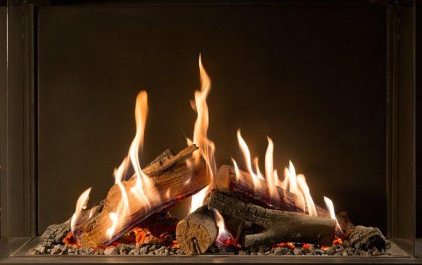 Kominek gazowy Kalfire GP105_79F ogień 2