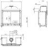 Kominek gazowy Kalfire GP105_79F rysunek techniczny