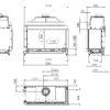 Kominek gazowy Kalfire GP110_55C rysunek techniczny