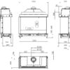 Kominek gazowy Kalfire GP115_75S rysunek techniczny