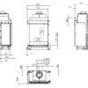 Kominek gazowy Kalfire GP65_75C rysunek techniczny