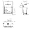 Kominek gazowy Kalfire GP75_59F rysunek techniczny