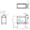 Kominek gazowy Kalfire GP80_54T rysunek techniczny