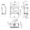 Kominek gazowy Kalfire GP80_55C rysunek techniczny