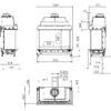 Kominek gazowy Kalfire GP85_55S rysunek techniczny