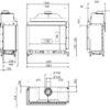 Kominek gazowy Kalfire y GP110_75C rysunek techniczny