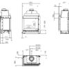 Wkład kominkowy na gaz Kalfire GP65-55C rysunek techniczny