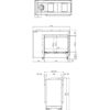 Faber Matrix 800 500 ST rysunek techniczny